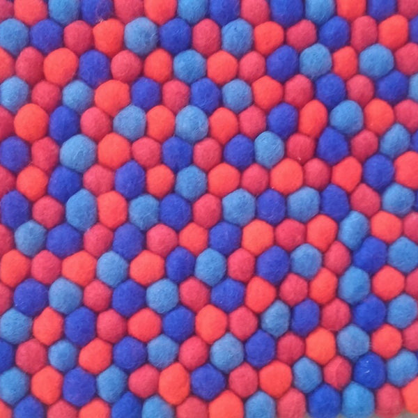 rectangle felt ball rug