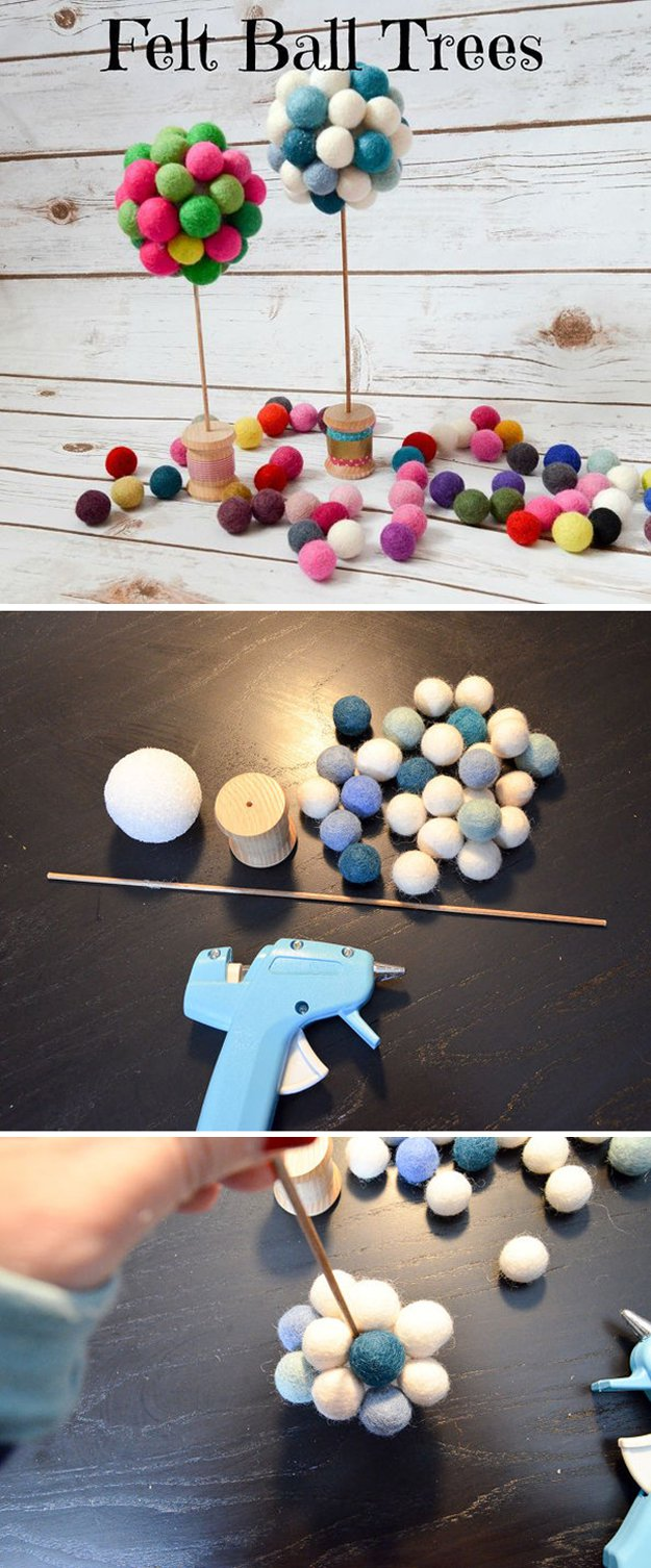 felt ball tree diy