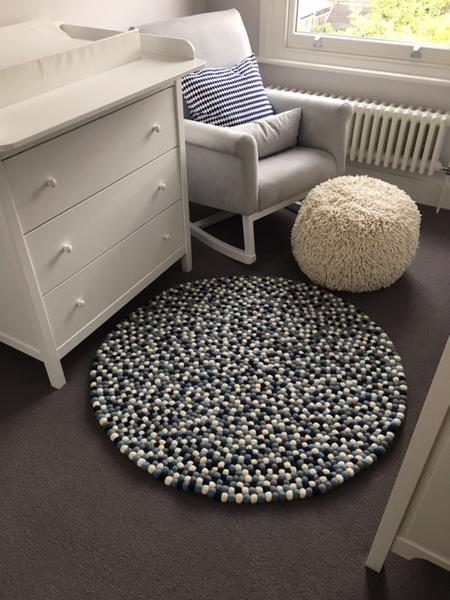 felt ball rug custom design boys nursery room