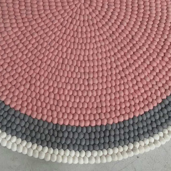 felt ball rug custom made