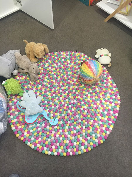 gelati felt ball rug review