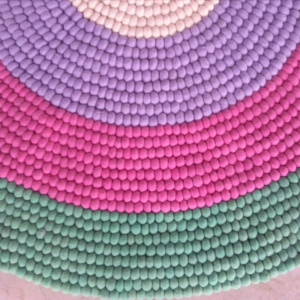 gobstopper felt ball rug