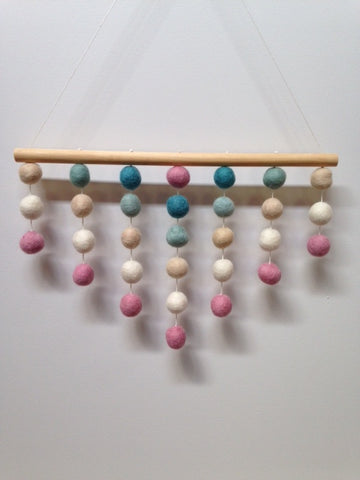 Felt Ball Wall Decoration