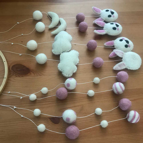 how to make crib mobile from felt balls