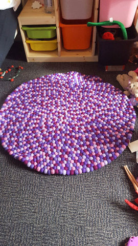 purple felt ball rug review