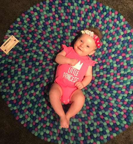 custom made pom pom rug