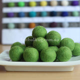 Felt Ball Lime Green 1 CM,  2 CM, 2.5 CM, 3 CM, 4 CM Colour 23 - Felt Ball Rug Australia - 1