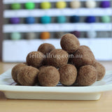Felt Ball Cocoa Brown 1 CM,  2 CM, 2.5 CM, 3 CM, 4 CM Colour 28 - Felt Ball Rug Australia - 1