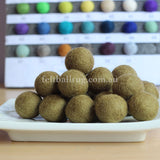 Felt Ball Blonde 1 CM,  2 CM, 2.5 CM, 3 CM, 4 CM Colour 31 - Felt Ball Rug Australia - 1