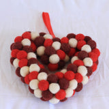 Felt Ball Love Wreath