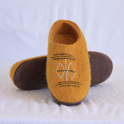 Golden Felt Shoes