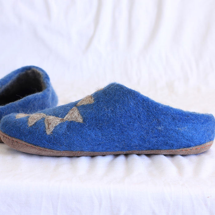 Bondi Blue Felt Shoes