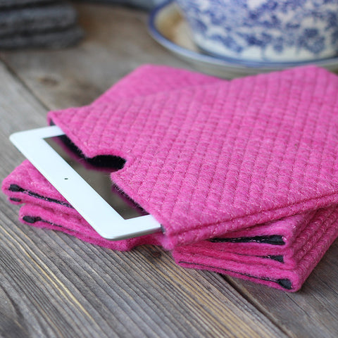 Felt iPad Case Rose Pink