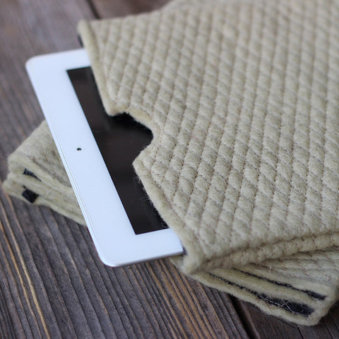 Felt iPad Cover Cream