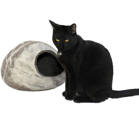 Mitsey Stripe Felt Cat Cave