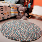 Blue Lagoon Felt Ball Rug