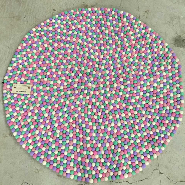 bubblegum felt ball rug