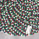 Christmas Candy Felt Ball Rug