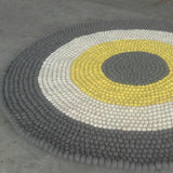Circle Pattern Felt Ball Rug Custom Made - Felt Ball Rug Australia - 4