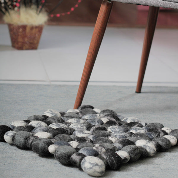 pebble felt ball rug