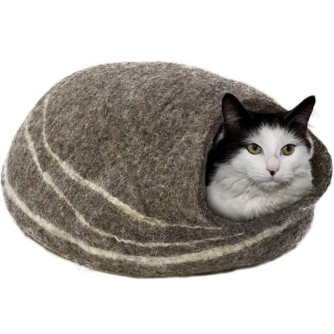 Duchess Dark Felt Cat Cave