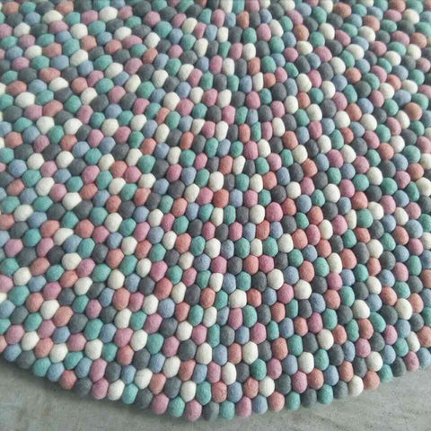 Fairy Floss Felt Ball Rug