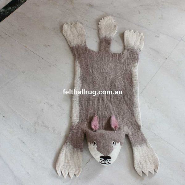 Animal Felt Rug Gus The Rabbit - Felt Ball Rug Australia - 1