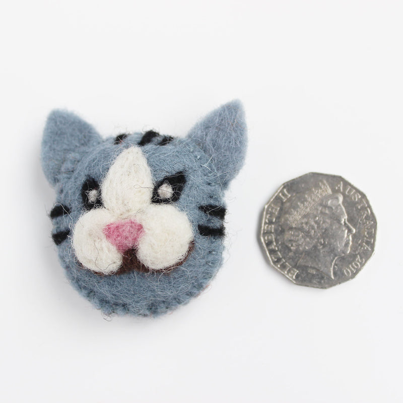 felt animal head cat