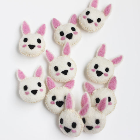 felt animal head bunny rabbit
