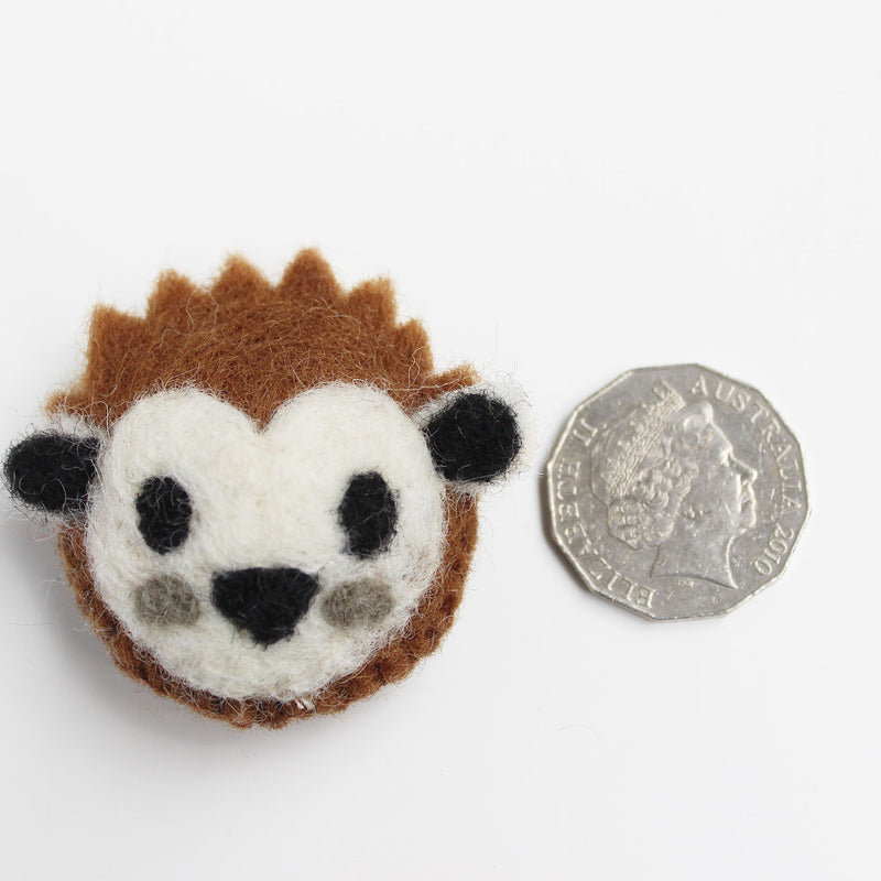 felt animal head hedgehog