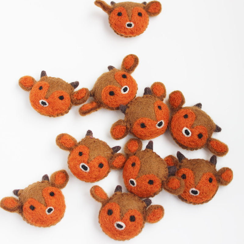 Felt Animal Heads Assorted