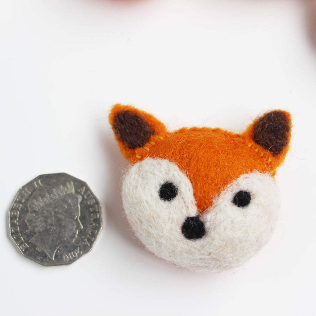 felted animal fox