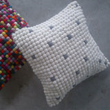 felt ball cushion white