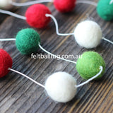 Felt Ball Christmas Garland - Felt Ball Rug Australia - 2