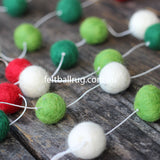 Felt Ball Christmas Garland - Felt Ball Rug Australia - 1