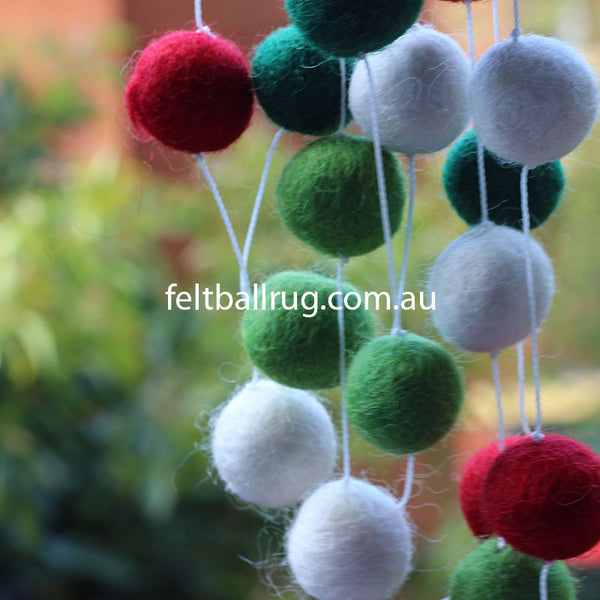 felt ball garland for christmas