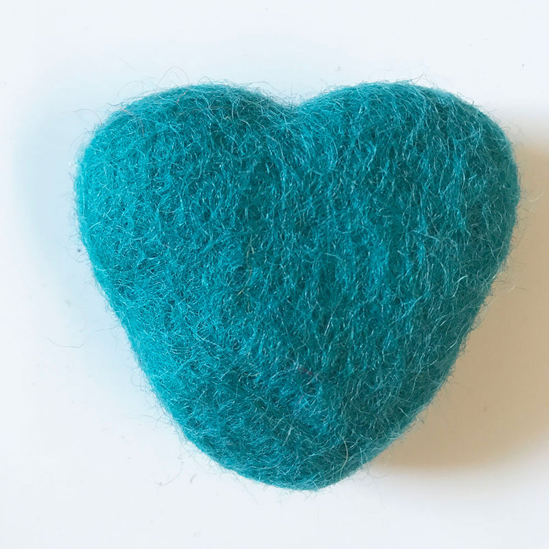Felt Hearts Mint Green
