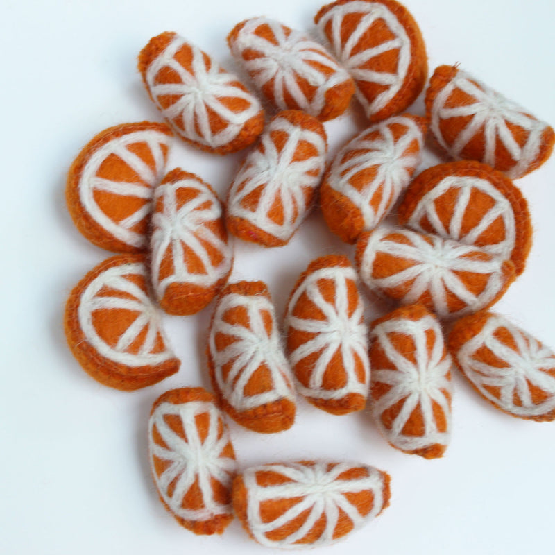 felt orange sliced