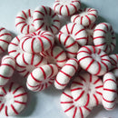 felt peppermint candy disk white