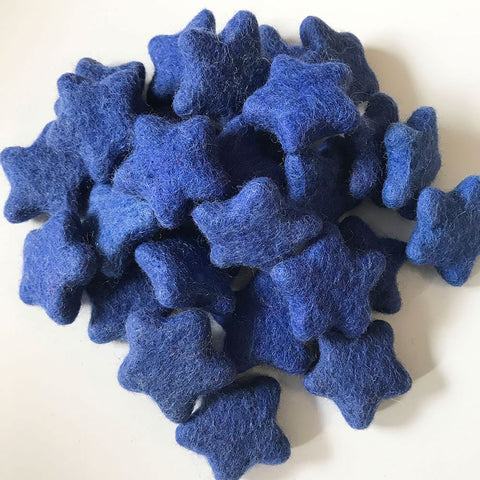 Felt Stars Royal Blue