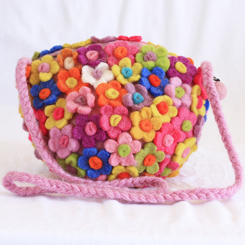 Flower Power Felt Bag
