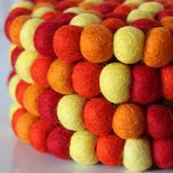 Golden Felt Ball Trivet