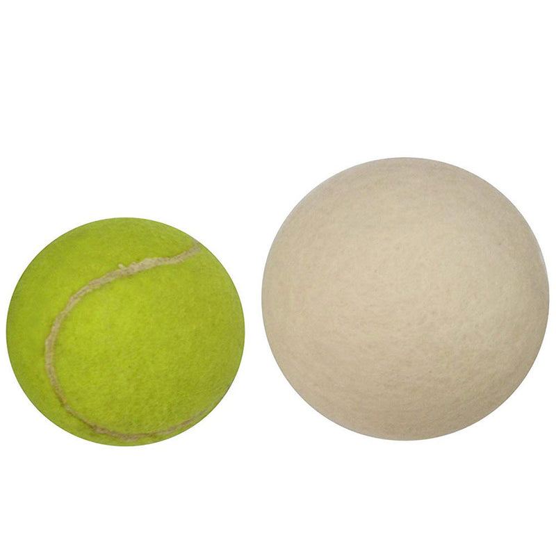 wool dryer ball size compare tennis ball