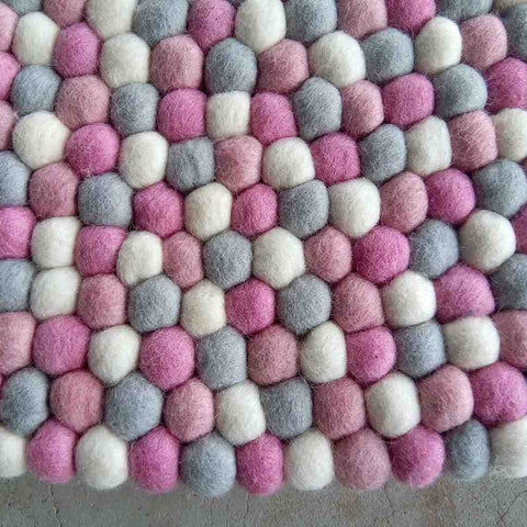 felt ball rug marshmallow