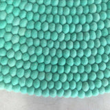 Mint Magic Felt Ball Rug