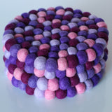 Purple Felt Ball Trivet