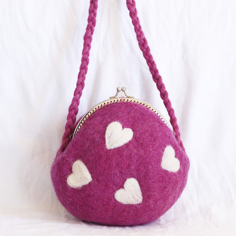 Mini Love Felt Purse
