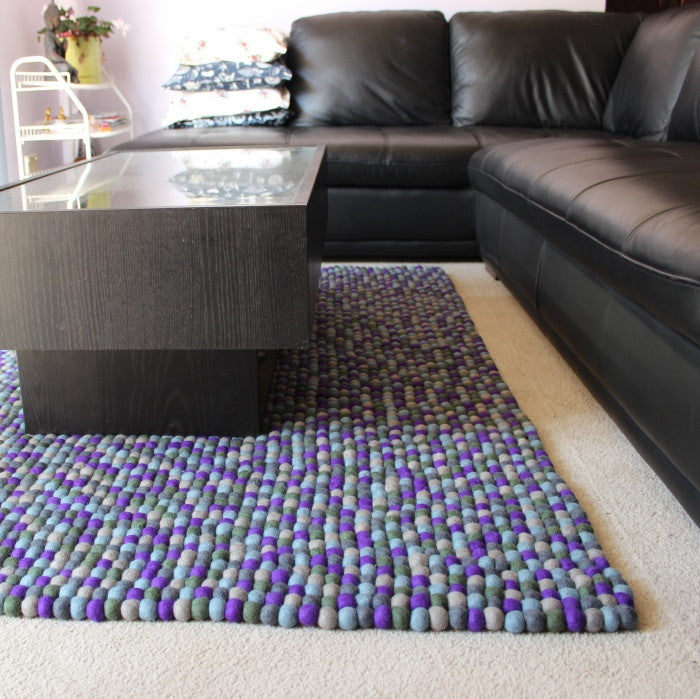 Rectangle Felt Ball Rug Custom Made - Felt Ball Rug Australia - 2