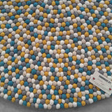 Summer Sunshine Felt Ball Rug
