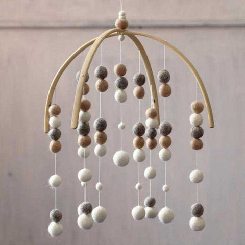 Marble Bar Felt Ball Mobile